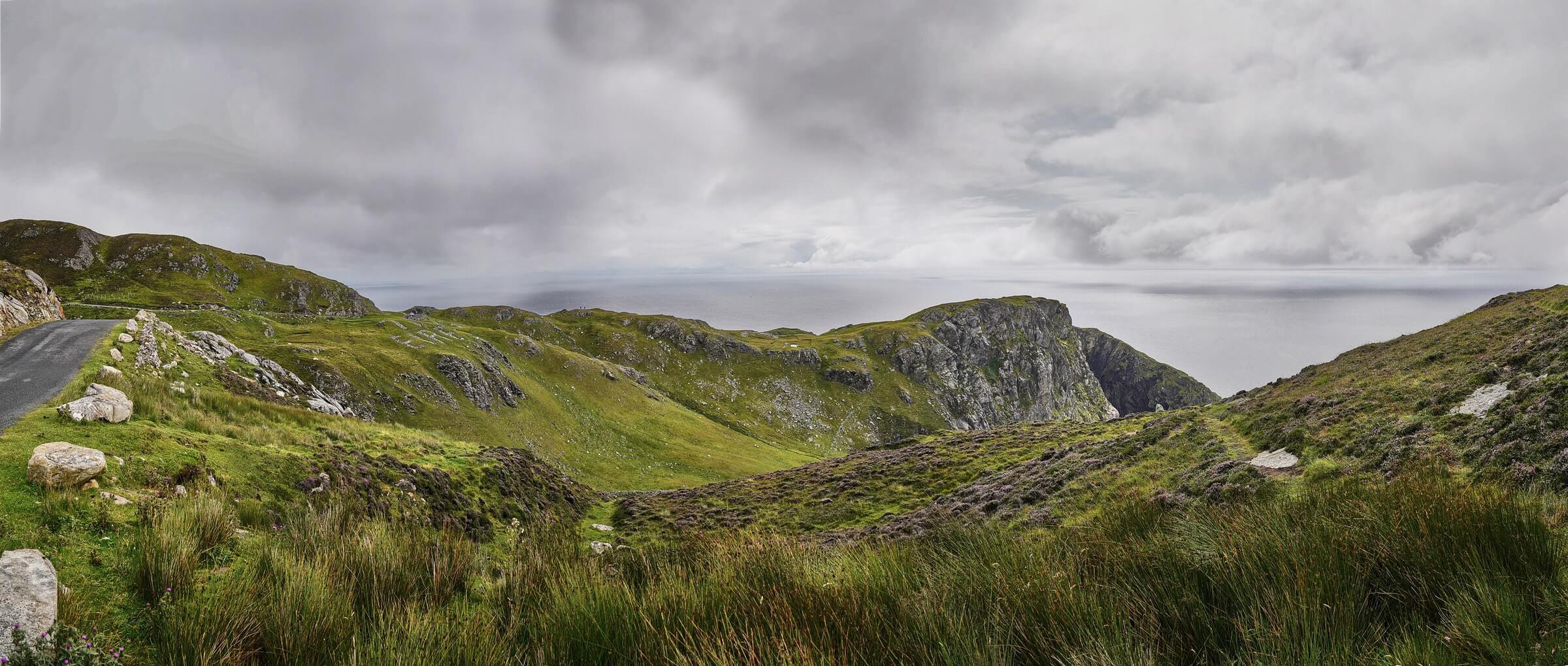 Rolling hills and road Sliabh Liag Donegal